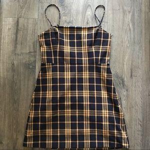Aritzia Wilfred Plaid Mini Dress